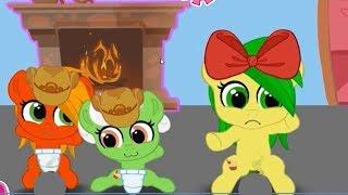 """День """"Д"""" в игре карманная пони. Что случилось в доме маленьких поняшек.  My little pony."""