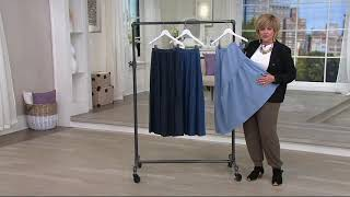Denim & Co. Pull-On Stretch Chambray Tiered Maxi Skirt on QVC