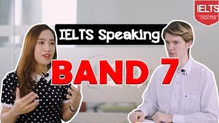 IELTS Speaking band 7+ |New Sample Test with subtitles |IELTS FIGHTER