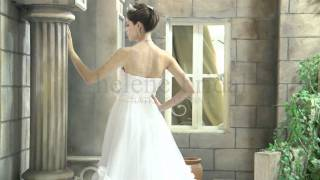 Princess Strapless Sweetheart Empire Satin Tulle Wedding Dress - Style WD6259 - HeleneBridal.com