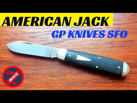 GEC #78 American Jack, Awesome SFO From GP Knives. Black Canvas Micarta Great Eastern Cutlery Knife