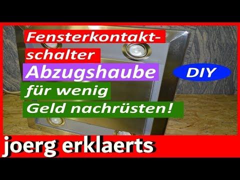 """Magnetschalter Fensterkippschalter an Abzugshaube nachrüsten für 6,99 € ..Vol 93"""""""
