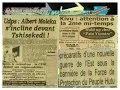 KINSHASA REVUE DE PRESSE DU 29 MAI 2014: Kivu, attention à la 2me mi-temps !