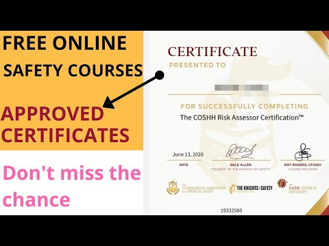 Free online Safety course certificate | Job oriented certificate ...