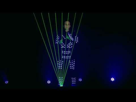 Arpa laser con personaje de led