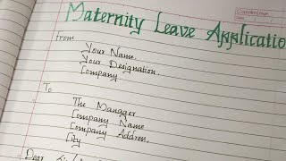 Maternity Leave Letter ....//writing a letter for maternity leave