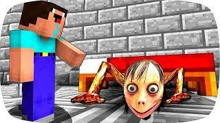 НУБИК ПРОТИВ СТРАШНАЯ МОМО В Майнкрафте! Minecraft Мультики Майнкрафт троллинг Нуб и Про