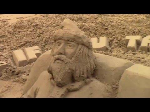 , title : 'Скульптуры из песка.'
