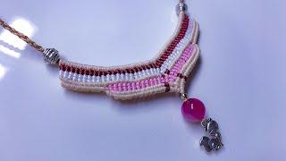 Macrame Necklace Tutorial In Boho Style - DIY