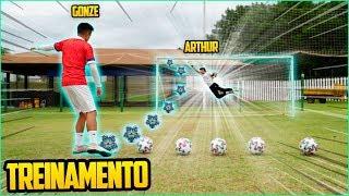 TREINO PROFISSIONAL DE GOLEIRO PARA O SUPERCLÁSSICO!! ( arthur vs gonze )