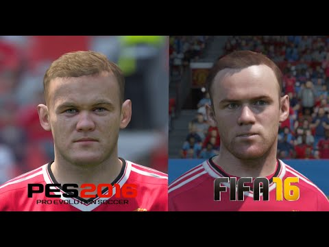 PES 2016 vs FIFA 16 Manchester United Player Faces Comparison