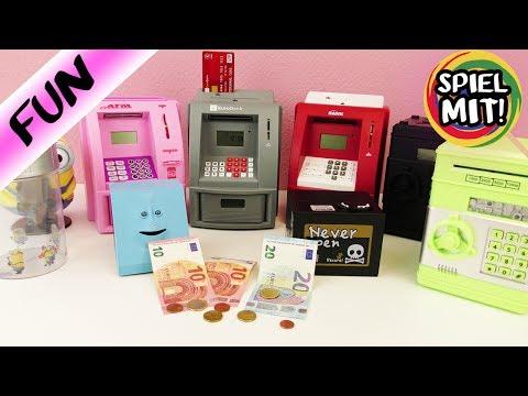 ULTIMATIVER SPARDOSEN/GELDAUTOMATEN VERGLEICH! Welche ist die BESTE?! Facebank & Geldautomaten
