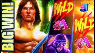 ★BIG WIN! TARZAN GRAND★ 💪LET'S SEE THOSE WILDS! Slot Machine Bonus (Aristocrat)