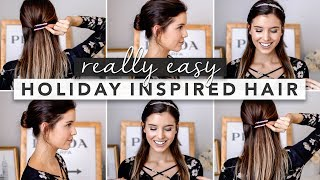 Holiday Inspired Hairstyles: Perfect for Fine or Thin Hair | by Erin Elizabeth