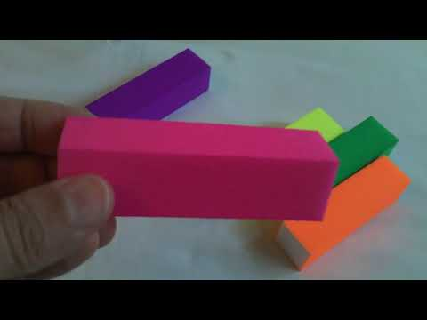 5pcs lime per unghie color lucidatura levigatura fluorescenti blocco TOOL manicure, by BangGood