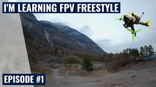 I'm learning FPV freestyle #1 @ Gravel Pit