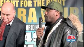 Chisora and Fury separated by security at head to head!
