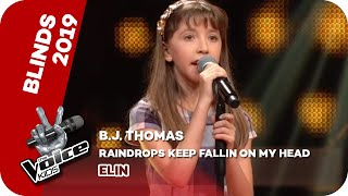 B.J.Thomas - Raindrops Keep Fallin' On My Head (Elin) | Blinds | The Voice Kids 2019 | SAT.1