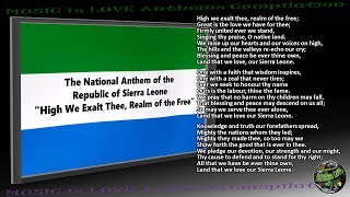 "Sierra Leone National Anthem ""High We Exalt Thee, Realm of the Free"" INSTRUMENTAL with lyrics"