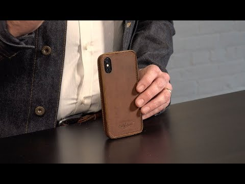 Traveler Leather iPhone X Case Video