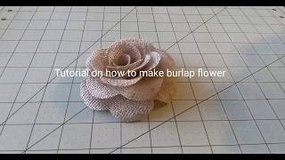 EASY BURLAP FLOWER TUTORIAL FOR YOU DIY PROJECT