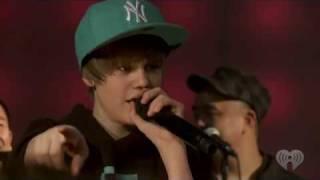 """Justin Bieber """"Eenie Meenie"""" Feat. Sean Kingston [ & LEGACI  ] (live) At Z100"""