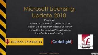 Microsoft Licensing Update 2018
