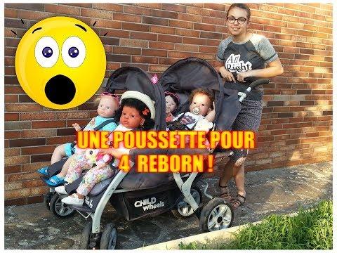 UNE POUSSETTE POUR 4 REBORNS !!! ***