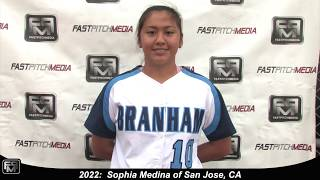2022 Sophia Medina Power Hitting Catcher and Third Base Softball Skills Video - SJ Lady Sharks