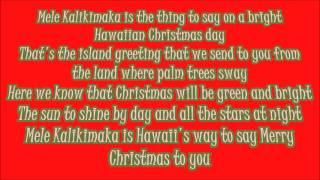 Bing Crosby Mele Kalikimaka Lyrics