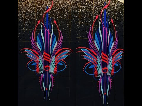 Symmetrical Scroll Pinstriping Design Mp3