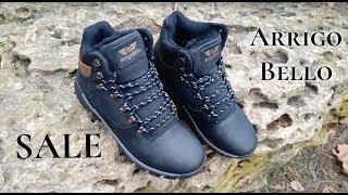 """Кожанные зимние мужские ботинки ARRIGO BELLO (BLACK) черные 41р-46р от компании Интернет-магазин """"ZrazOK"""" - видео"""