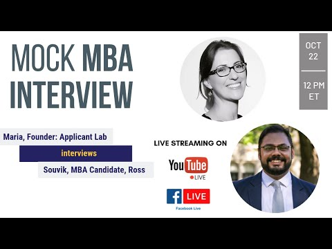 Live MBA Mock Interview with HBS Alum and Ross MBA Student