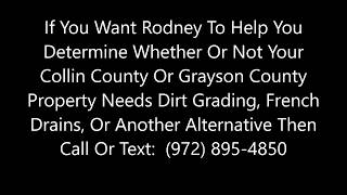 Yard Drainage And French Drains In McKinney, Sherman, Plano, And Collin And Grayson Counties