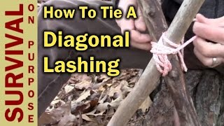 How To Tie A Diagonal Lashing - Boy Scout Knots And Lashing