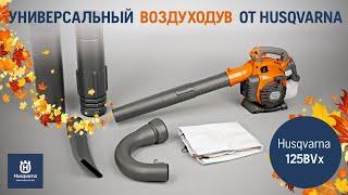 Воздуходувка бензиновая HUSQVARNA 125 BVx - видео №1