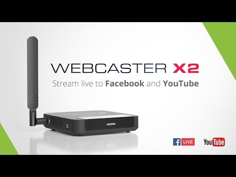 Webcaster X2 - Live Stream to Facebook and YouTube