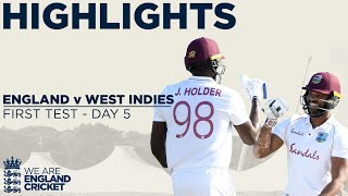Day 5 Highlights | Windies Win Thrilling Test | England v West Indies 1st Test 2020