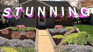 STUNNING Front Yard NO GRASS WOWZERS! // Bobby K Designs