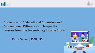Discussion on: Educational Expansion and Crossnational Differences in Inequality: Lessons from Luxembourg Income Study