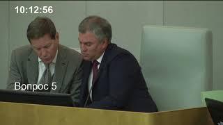 Пленарное заседание Государственной Думы 21.06.2018 (10.00 - 12.00) ( Госдума )
