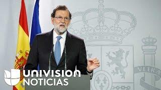 España destituye al gobierno de Cataluña tras la declarar la independencia