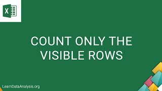 Count Visible Rows in a Filtered List in Excel | MS Excel Tutorial