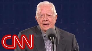 Jimmy Carter's subtle jab at Trump's crowd size - Video Youtube