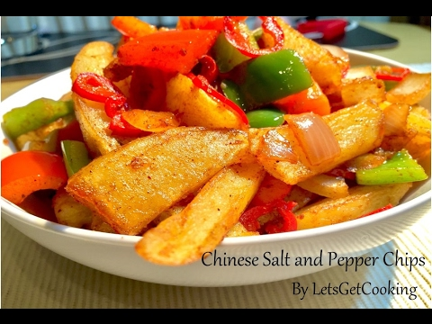 Chinese Salt & Pepper Chips Recipe | Homemade Chips | Easy Snack - By LetsGetCooking