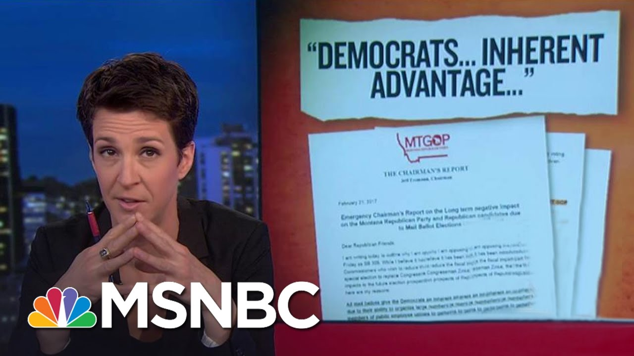 Montana GOP Chair Afraid Of Too Much Voting | Rachel Maddow | MSNBC thumbnail