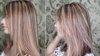 Caramel Highlights On Brown Hair | Light Brown Hair With Highlights By Nazia Khan