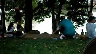 Video : China : A ride through a park in KaiYuan, YunNan province - video