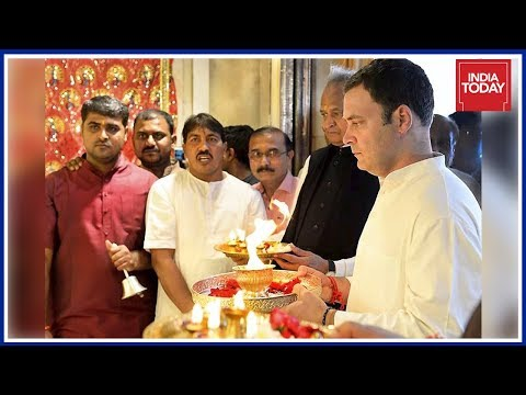 Rahul Visits Jagannath Temple On Last Day Of Gujarat Campaigns