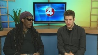 DMB violinist Boyd Tinsley and singer/guitarist Mycle Wastman of Crystal Garden stopped by News 4 Wa